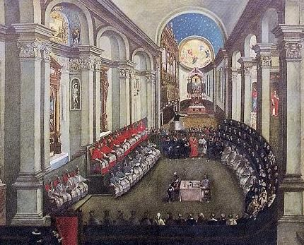 The Council of Trent 1545 - 1563 (17th century painting).  Another look at the Italian Reformation, ~S  #Reformation #Italy #History