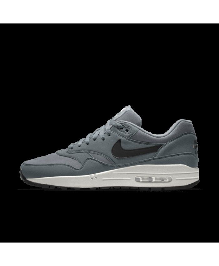 size 40 a381f e7582 Nike Air Max 1 Essential Id Grey White Mens Shoes Outlet