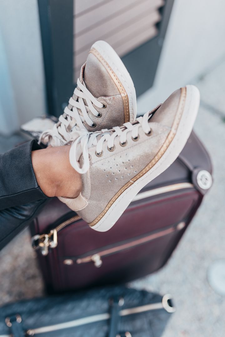e8304ae7bad719 Haute Off The Rack, New Orleans blogger, Louisiana blogger, women's  fashion,Metallic Sneakers, Sofft Sneakers, Spanx Faux Leather Leggings, ...