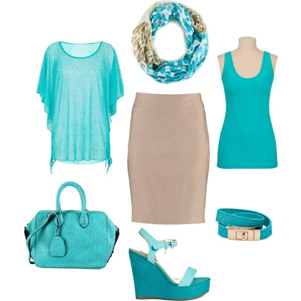 Turquoise and beige - warm spring