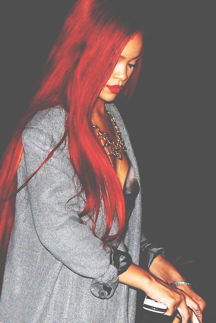 Rihanna's Red Hair