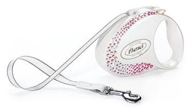 Flexi Glam Pet Leash, Mother of Pearl - Small