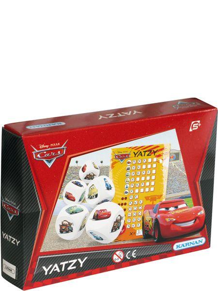 Autot Yatzy -pelin tarkoitus on kerätä noppaa heittämällä erilaisten kuvien yhdistelmiä ja saada mahdollisimman paljon rasteja. Nopissa seikkailevat Martti, Salama McQueen, Klainari ja muut tutut Autot-hahmot.