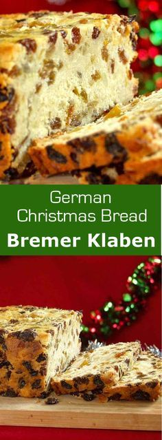 Bremer Klaben is a traditional German Christmas bread with dried fruits and almonds which is protected by a European PGI.
