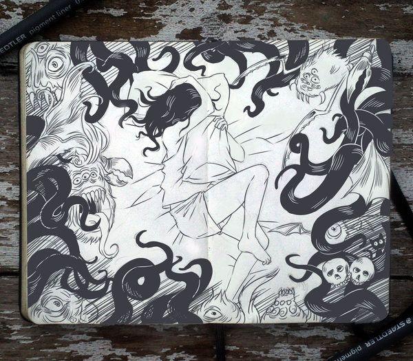 Brazilian illustrator Gabriel Picolo - A doodle everyday for 365 days. http://365-daysofdoodles.deviantart.com/