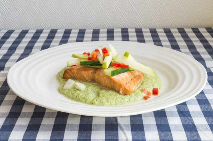 Smoked Salmon and Broccoli Cream