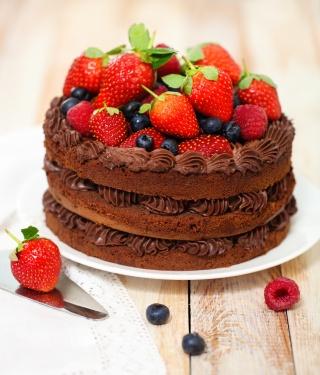 Ciasto czekoladowe z jagodami i truskawkami też ujdzie :)