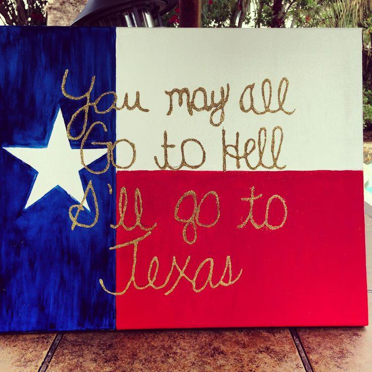 Texas Flag canvas. DIY