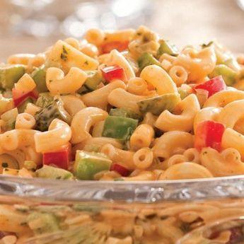 Salade de macaronis crémeuse - Recettes - Cuisine et nutrition - Pratico Pratiques - Lunch