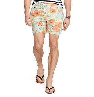 Polo Ralph Lauren® Men's Floral Traveler Swim Shorts