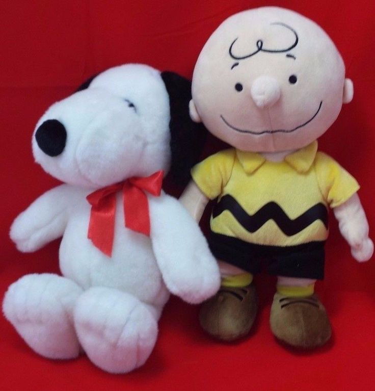Peanuts Charlie Brown & Snoopy Stuffed Animal Plush Kohl's Cares United Feature