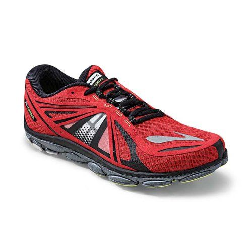 Brooks Men's PureCadence 3, Color: HighRiskRed/Black/Nightlife, Size: 14.0.  Getting support doesn't mean gaining weight when it comes to this  ultra-light ...