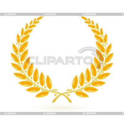 Золото Лавровый венок | Векторный клипарт | ID 3771715