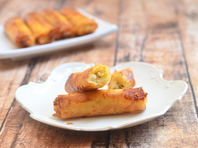 Banana And Cream Cheese Springrolls Rice Paper Wrappersspring Roll
