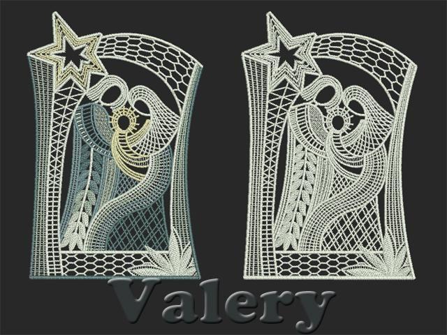 beautiful free standing lace design