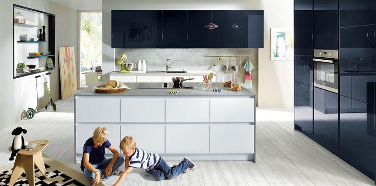Кухня Schuller - Glasline G092 Матовое Стекло Кристально-белое | GermanKitchens.ru