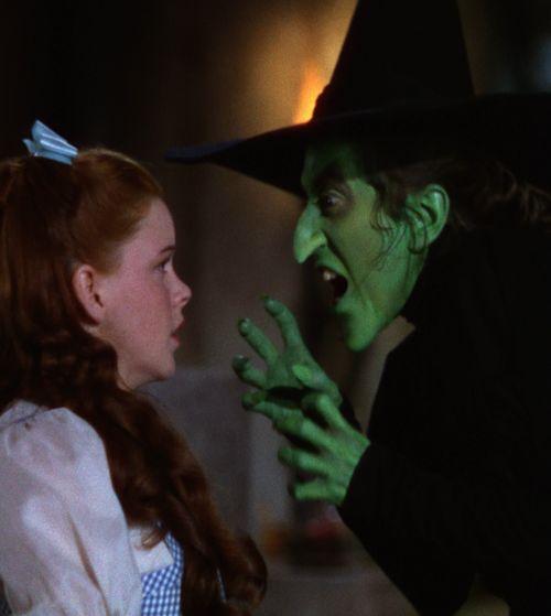Margaret Hamilton & Judy Garland ~  The Wizard of Oz, dir. Victor Fleming 1938