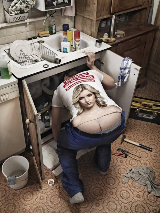 Sexy T-Shirts for Plumbers, Mechanics, Builders