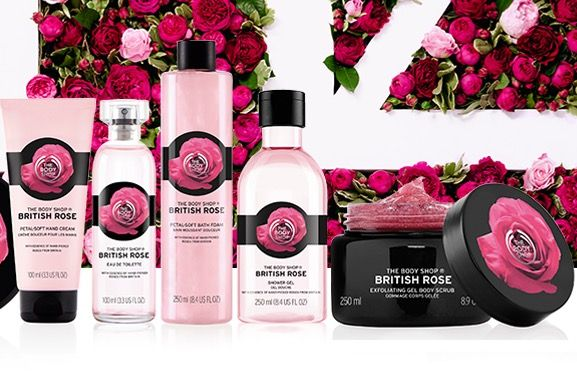 Our British Rose Body Care makes the
