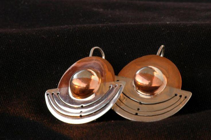 Aros. Plata y cobre