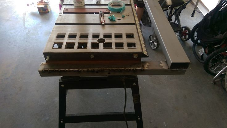T Square Fence And Table Extension For Cheap Box Store Table Saw By Mr95gst My Brother Left Me