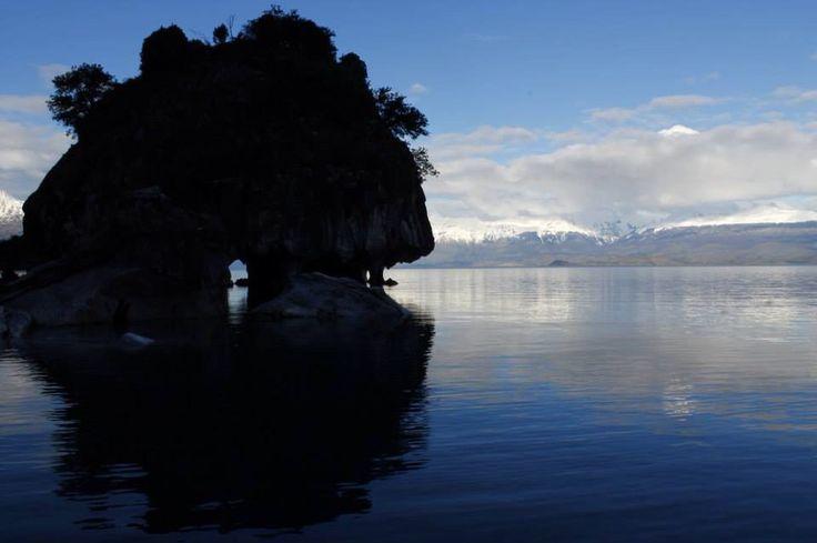 Capillas de mármol, Aysén, Chile #reflejos #lake #puertotranquilo #paisajes #chile #contraste
