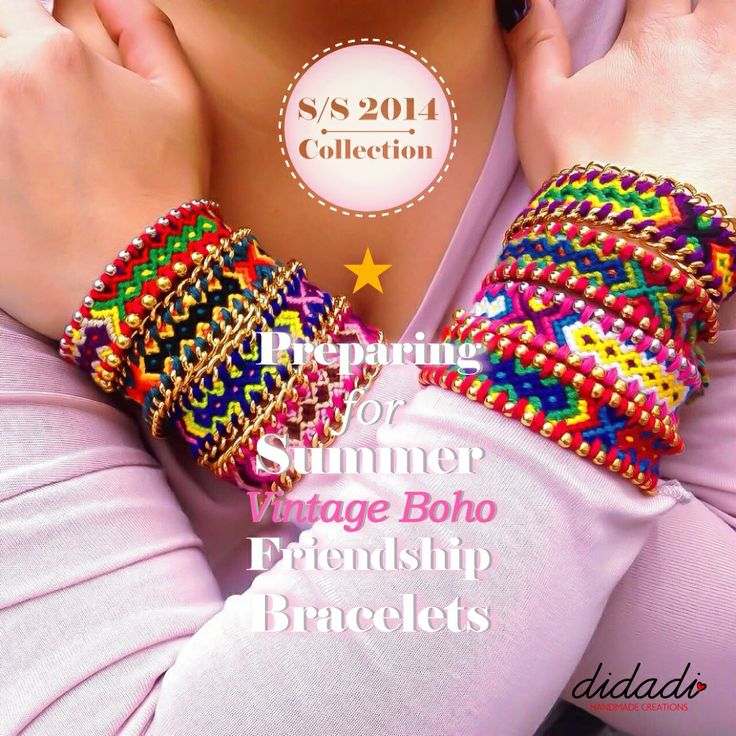 S/S 2014 Friendship Bracelets. Handmade by Didadi. Poster by Roligraphics.