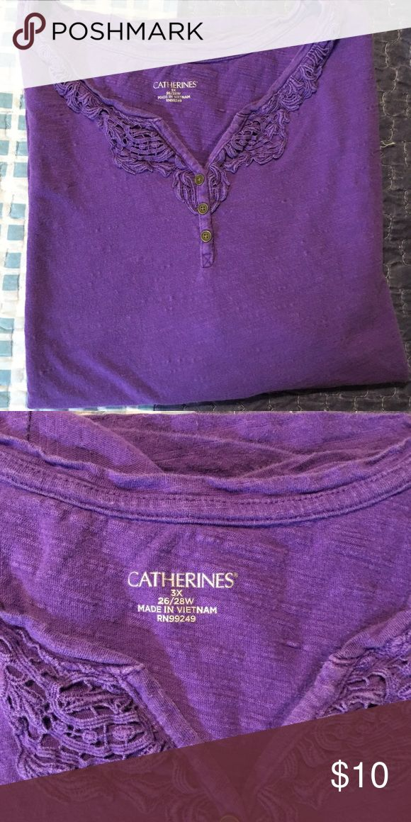 Summer top This purple short sleeve top is from Catherines. Will make any summer outing cool and fun! The size is 3x Tops Tees - Short Sleeve