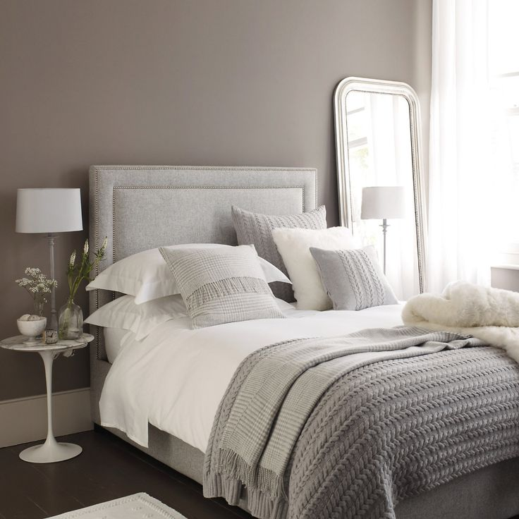 17 best ideas about mirror headboard on pinterest rug Beautiful grey bedrooms