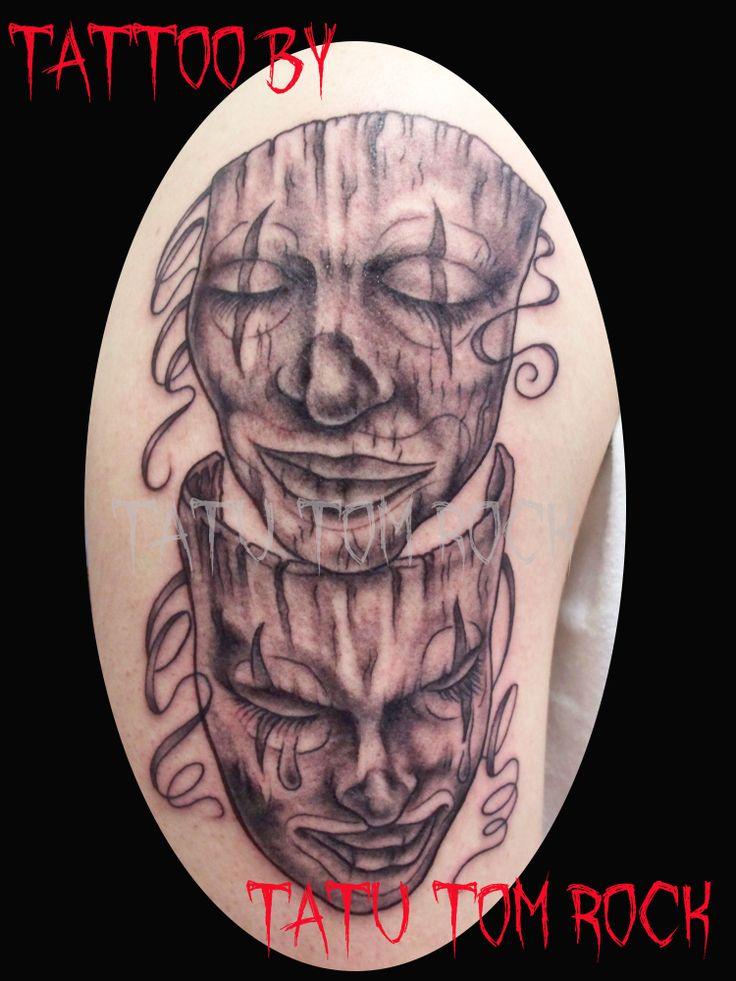 #tattoos #masks #comedytragedy #dreamcitytattoos #tatutomrock #Chicago #tattoo #art #artist