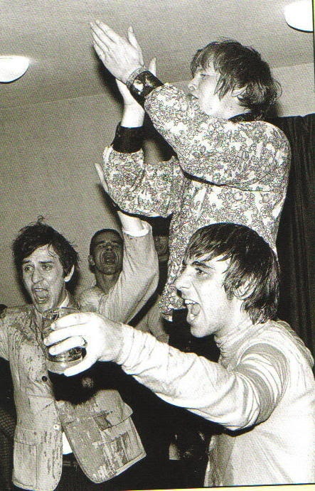 Keith Hopwood, Peter Noone, and Keith Moon.