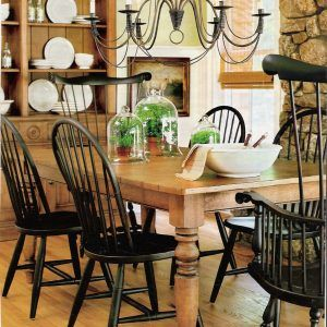 Farmhouse Pine Dining Table And Chairs