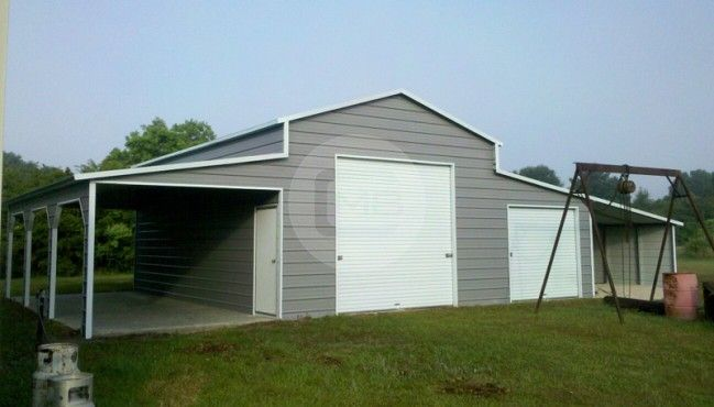 54x31 Raised Center Barn In 2020 Barn Outdoor Storage Buildings Dutch Gable Roof
