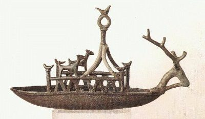 Navicella nuragica, bronzetto. #Sardegna antica #Archeologia
