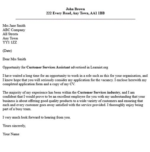 examples customer services covering letter cover service template rachel