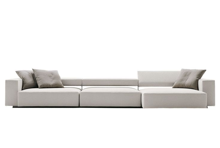 B&B Italia Sofa Andy designed by Paolo Piva, with an adjustable inclination system _