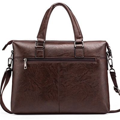"JEEP BULUO Men's Briefcase Fashion Handbags For Man Sacoche Homme Marque Male Pu leather Bag For A4 Documents 14"" Laptop 6015"