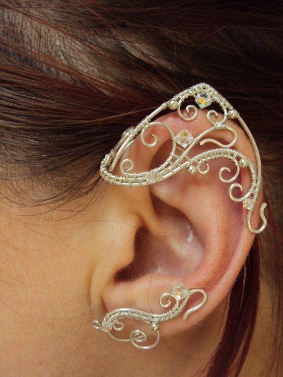 Ear cuffs elven ears Soul friend by StrangeThingJewelry on Etsy, $30.00