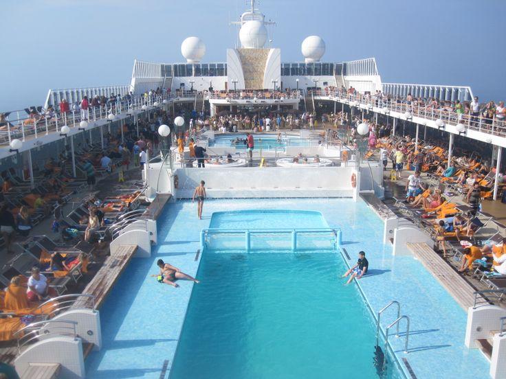 Save us a #deckchair! Pool times on #MSCOpera  #CruiseMiss