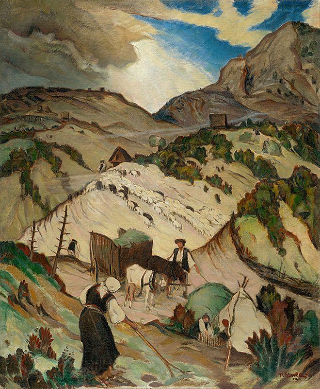 Martin Benka - Na holiach, 1922