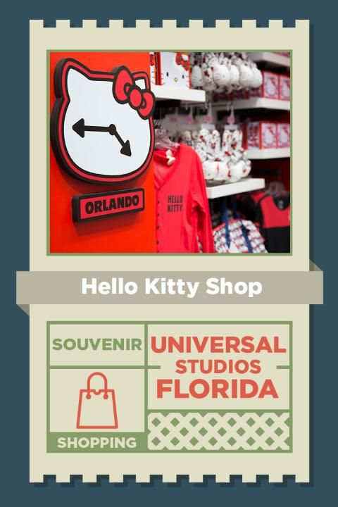 Enter the supercute world of Hello Kitty in her new shop at Universal Studios Florida!  With four specially themed areas that are complete with exclusive merchandise and meet & greets, there's something for everyone.