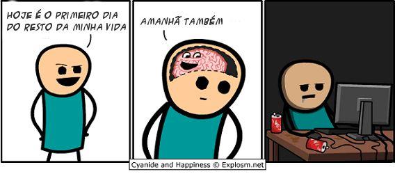 Procrastinação é culpa do seu cérebro.