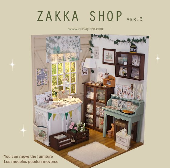 ♥ Handmade miniature diorama ZAKKA SHOP ver.3 ♥ Is in 1/6 scale , perfect for Blythe, Pulllip , Monster High ,Barbie , Momoko, etc... d...