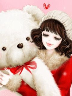 okos lány, és a medve baba telefon háttérképek Képek 2
