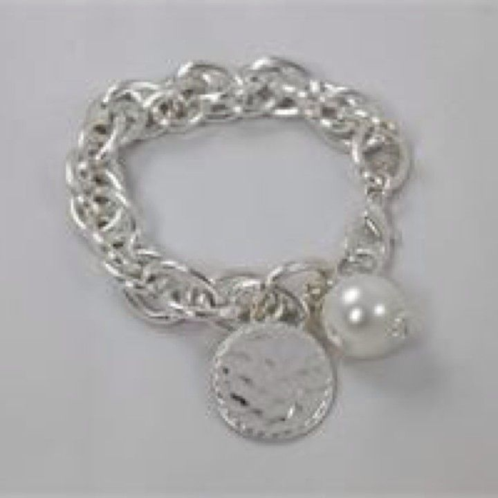 NB0805SV V. Lu Silver Charm Bracelet from Turn Her Style, LLC for $36 on Square Market