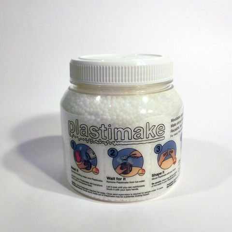 An 800g (28oz) jar of Plastimake.
