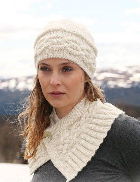 Knit headband and scarf