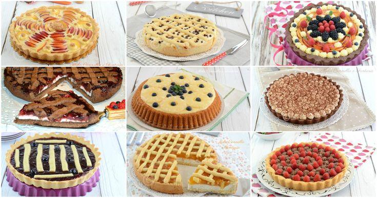 Con frutta fresca, crema pasticcera, ricotta, cioccolato, Nutella... 40 ricette facili per preparare tante golosissime crostate