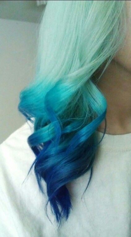 turquoise and blue