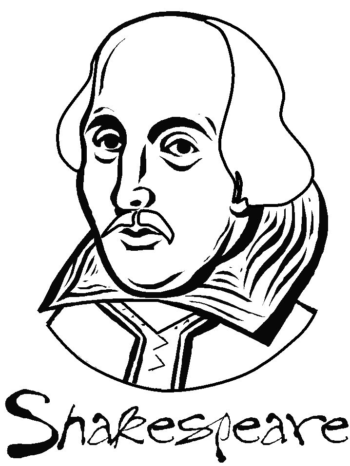 coloring pages shakespeare - photo#3